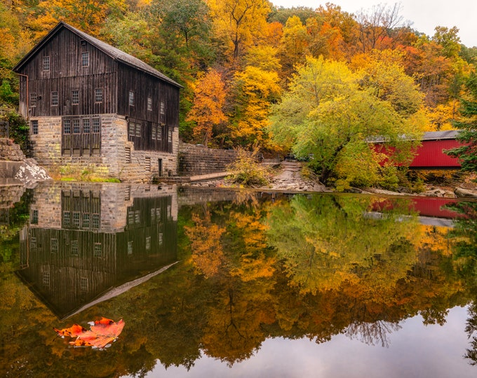 McConnells Mill Photo Print - McConnells Mill Fall Foliage - McConnells Mill State Park, PA