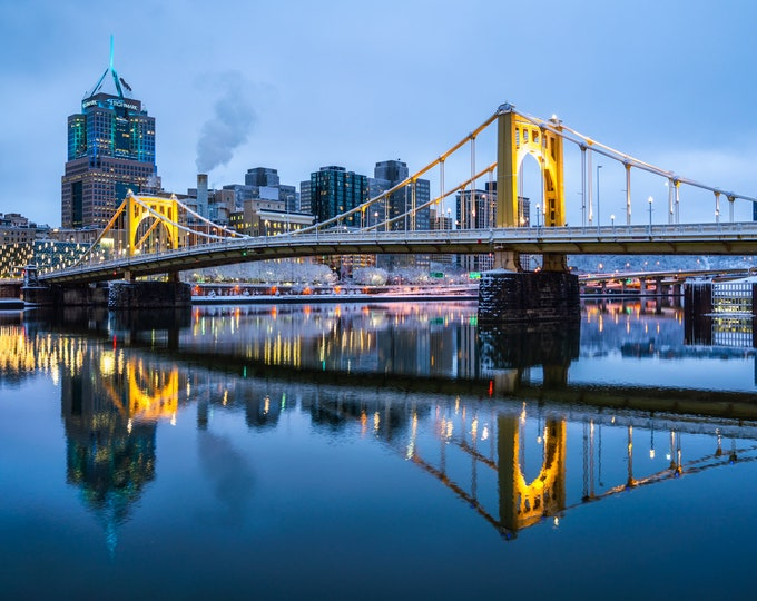 Pittsburgh Print - A Wintery Clemente Bridge - Pittsburgh Art - Pittsburgh Photo