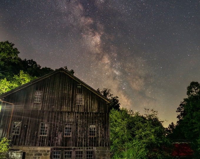 McConnells Mill Photo - Milky Way of McConnells Mill - Photo Print