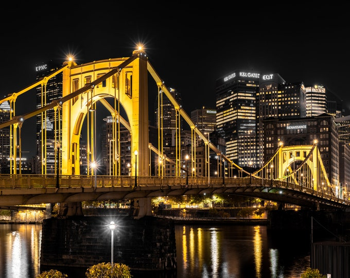 Clemente Bridge in Pittsburgh - Selective Color