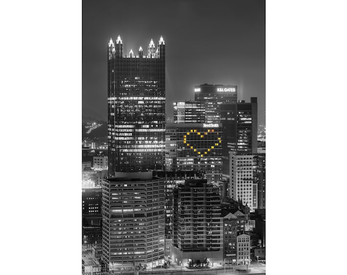 Pittsburgh Picture - Heart with PPG Place
