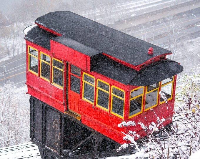 Pittsburgh Incline Photo - Snowy Incline - Pittsburgh Art - Duquesne Incline
