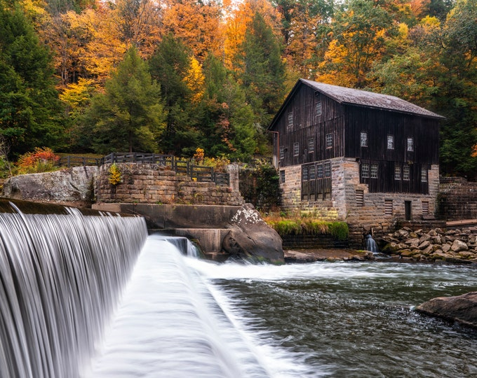 McConnells Mill Photo Print - McConnells Mill in Fall - McConnells Mill State Park, PA