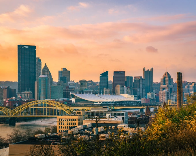 Pittsburgh Skyline Photo Print - Troy Hill Sunrise - Pittsburgh Wall Art