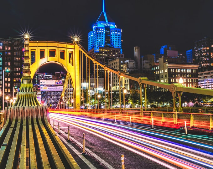 Clemente Bridge Light Trails