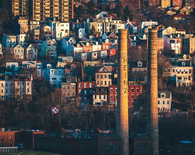 Pittsburgh Photo - Heinz Plant Smoke Stacks at Sunrise - Pittsburgh Photos - Pittsburgh Wall Art