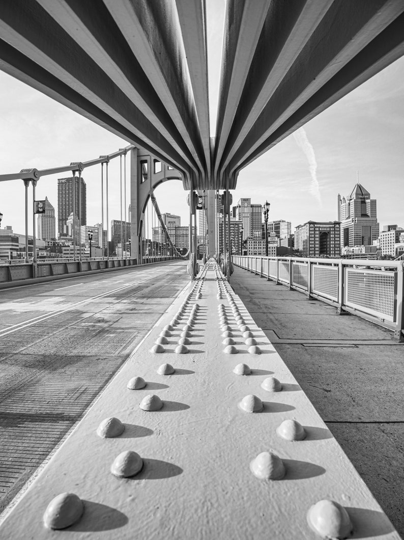 Warhol Bridge and Downtown Pittsburgh Photograph  Pittsburgh image 0