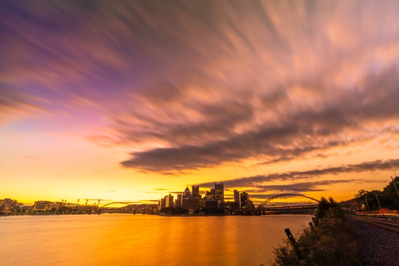 Pittsburgh Vibrant Sunrise Photo