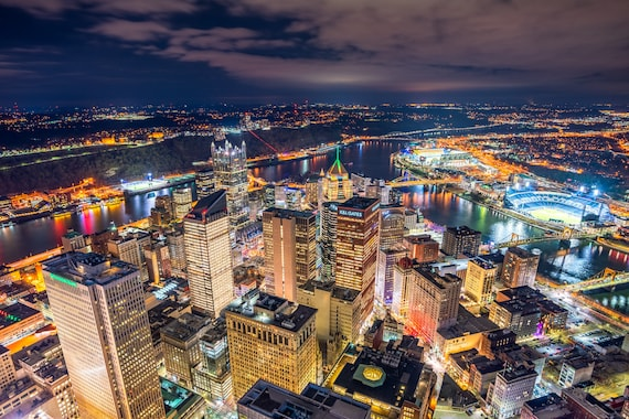 Pittsburgh Skyline Shot from the Roof of the U.S. Steel Tower