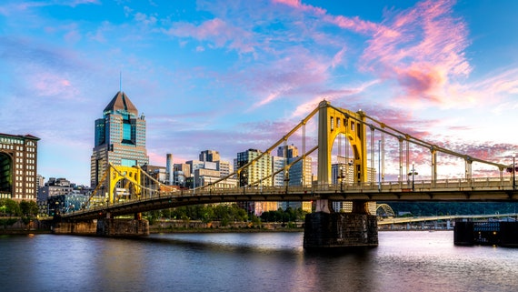 Clemente Bridge Vibrant Sunset
