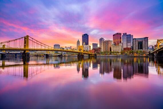 Pittsburgh Skyline with an Amazing Sunrise