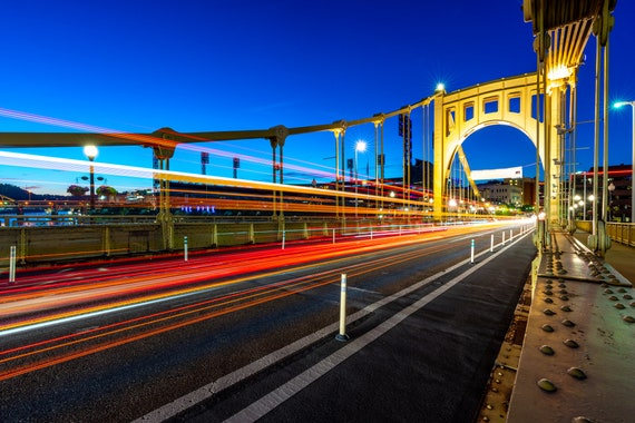 Light Trails on the Clemente Bridge