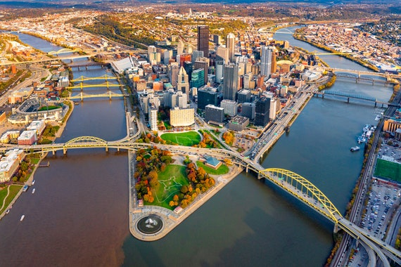 Pittsburgh in Autumn with Great Fall Colors