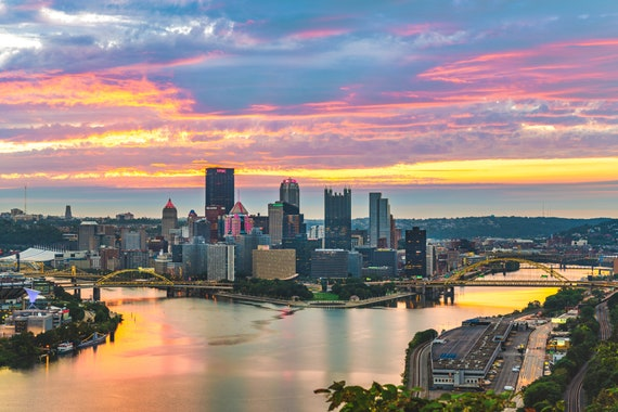 Pittsburgh Pink Sunrise