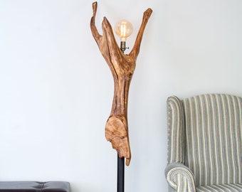 Unique Weathered Oak Floor Light