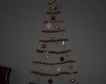 Christmas tree - Space saving / wooden / rustic / hanging