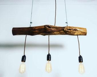 Oak Ceiling Light