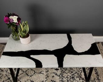 Coffee Table - Granite, Epoxy, River Table