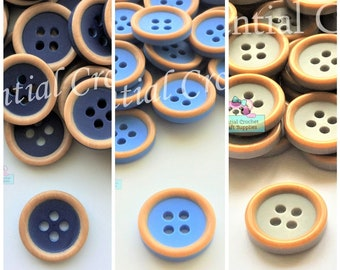 10 Pastel Orange Buttons 4 Hole Flat Round Frame Shiny Pearl  Shirt 10mm 1cm