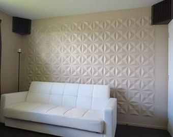 *puzzle* 3d Decorative Wall Panels 1 Pcs Abs Plastic Mold For Plaster Comfortable Feel Business & Industrial