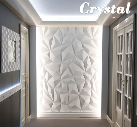 Plastic Mold For 3d Wall Decor Panels For Gypsum Or Concrete 3d Form Of The Abs Plastic Model Crysral