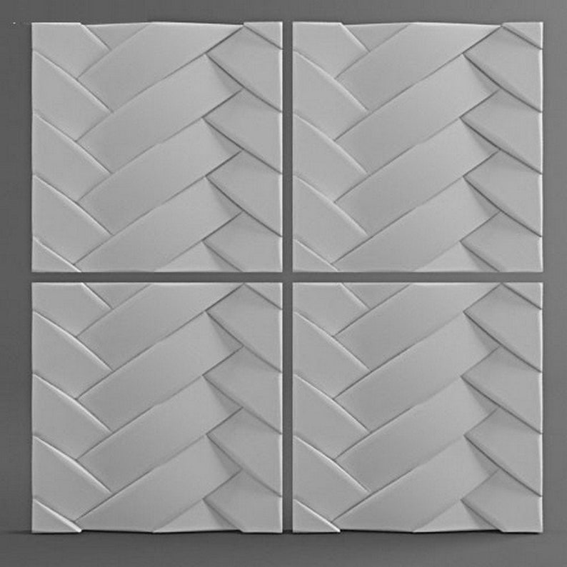 Plastic mold 3D Panel for plaster (gypsum) or concrete  Form for plaster  decor wall panels mold  3D for decorative wall panels