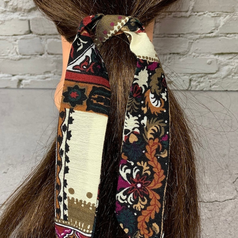Ponytail Tie Hair Scarves Hair Ribbon Hair bun Tie Fabric H7 Hair Scarves Ribbon for Hair Ponytail Hair Scarf Hair Scarf
