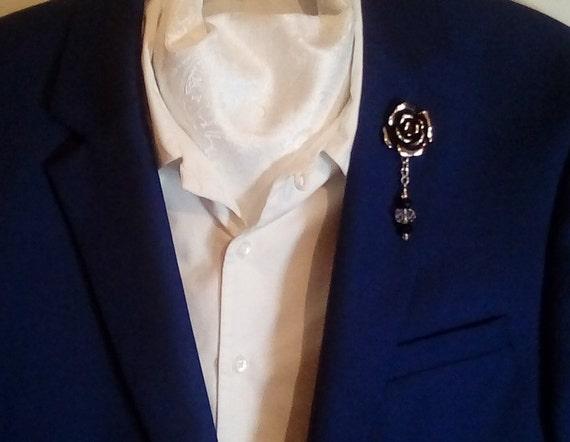 Men Women Lapel Or Tie 6mm Rose Pink Freshwater Button Pearl Formal Brooch Pin