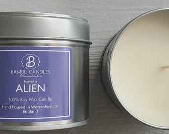 Alien Handpoured Highly Scented Candle Tin