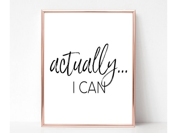 Success Motivational Print Print Wall Art Now Art Prints Download Cants Into Cans Printable Instant Print Wall Art Wall Decor