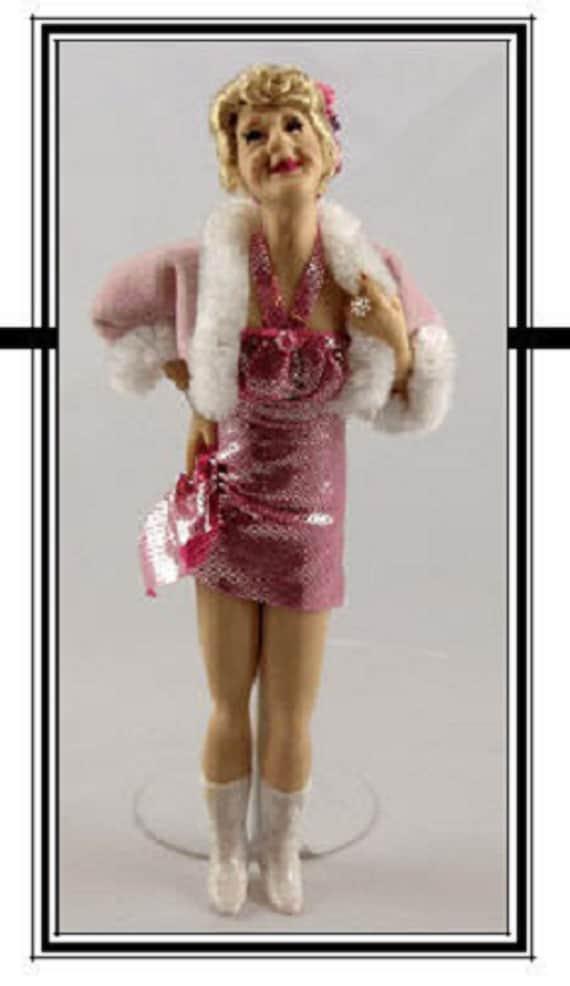 1:12 scale Miniature Doll Art Tutorials By DANA Pattern//Clothes//Hair LEXI