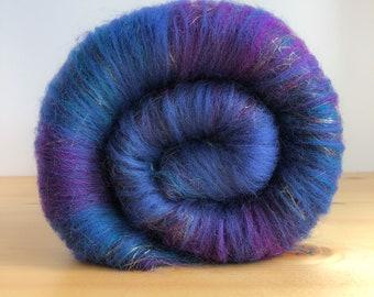 Magic Carpet- Art Batt, Spinning Fibers, Merino, Hand Carded for Spinning, Felting, Art Yarn, Yarn, Fiber Arts, Crafting