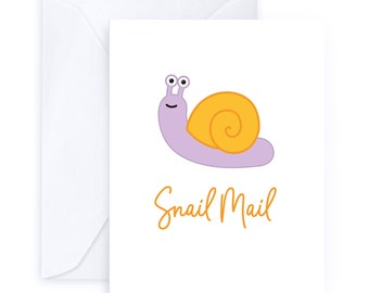 Snail Mail   Snail Greeting Card Post Office Old Fashioned Letters Postage