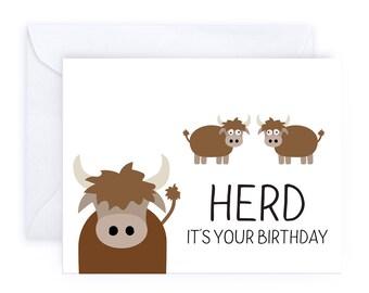Herd It's Your Birthday   Farm Animal Cow Bison Buffalo