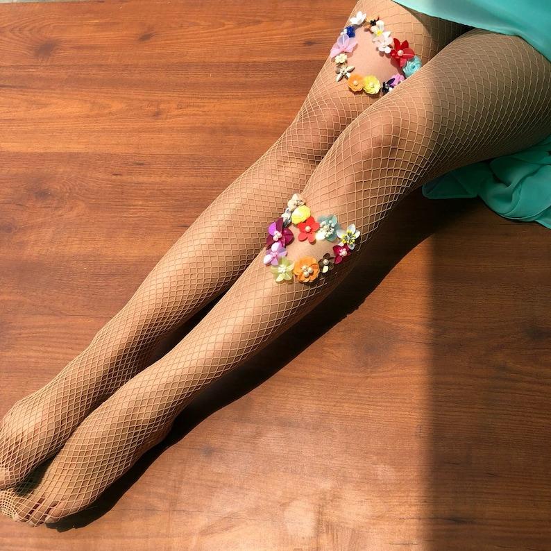 d44e5e9960bd7 Untamed Hearts Fishnet Stockings Wedding Vintage tights | Etsy
