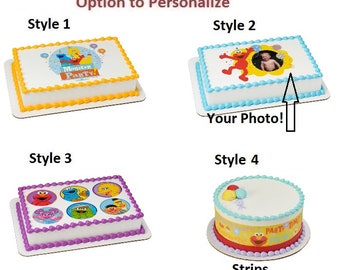 Sesame Street Elmo Big Bird More Edible Cake Image Photo Personalized Customize Topper Frosting Birthday Icing Cupcake Favors Decoration