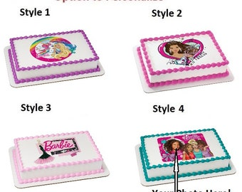 Barbie Dreamtopia Imagine Edible Cake Image Personalized Customize Photo Topper Frosting Birthday Icing Cupcake Favors Decoration Fondant
