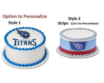NFL Tennessee Titans Edible Cake Image Or Photo Personalized Customize  Topper Frosting Birthday Icing Cupcake Favors Decoration Many Sizes 608d359f2