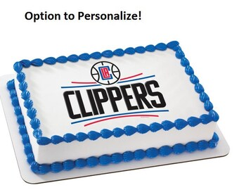 NBA LA Los Angeles Clippers Edible Cake Image Personalized Customize Topper Frosting Birthday Icing Cupcake Favors Decoration Fondant