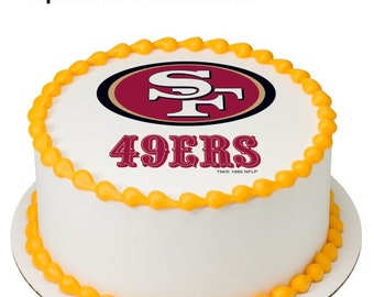 NFL San Francisco 49ers Edible Cake Image Or Photo Personalized Customize Topper Frosting Birthday Party Cupcake Favors Decoration Fondant