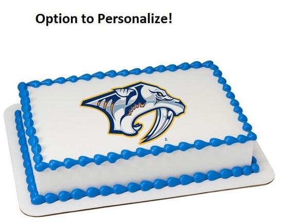 NHL Nashville Predators Hockey Edible Cake Image Personalized