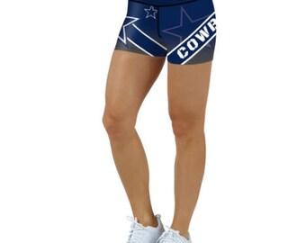 21ab7e8be Dallas Cowboys Football Women s Sports Mini Shorts Leggings Teams 2018