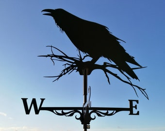Raven Metal Weathervane