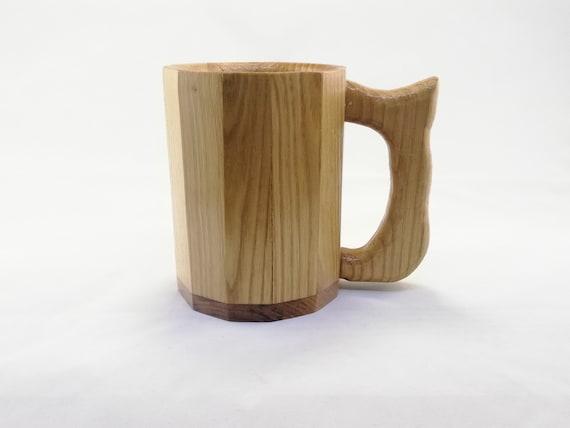 Wooden Beer Mug (Chestnut wood, food safe coating!) - Chestnut