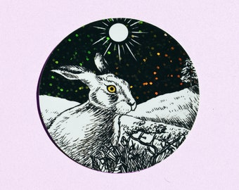 Hare Sticker (Matte/Sparkly)