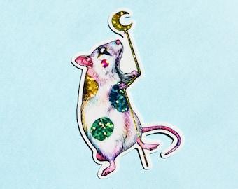 Sparkly Clown Rat Sticker