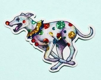 Sparkly Clown Dog Sticker