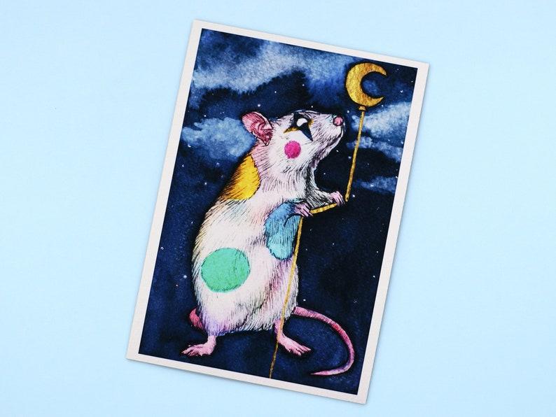 Clown Rat A5 Giclee Art Print image 1