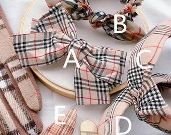 3d3334b6720c3 Burberry Inspired Hair bow, Headband, turbans, headwrap, hair pin, hair  clip, hair barrettes 4512