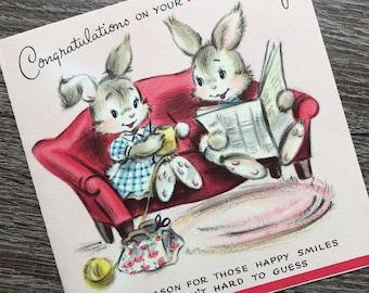 Vintage Greeting Cards Mixed Lot Happy Birthday Rust Craft Hallmark Puppy Bunny 1st Little Girl Bear